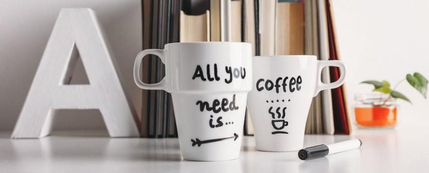 DIY Room decor with coffee cups