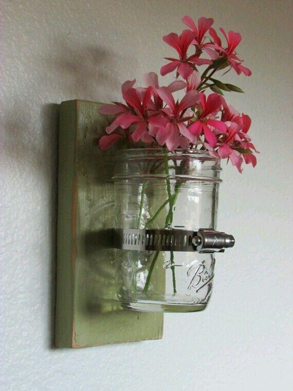 DIY Room Decor 11 - jar flower pot
