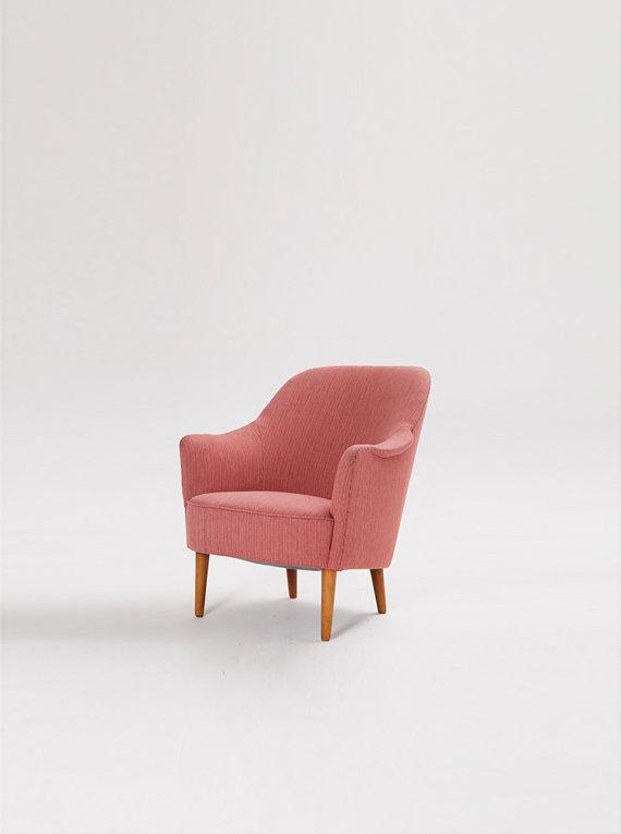 Danish design armchair - in pink