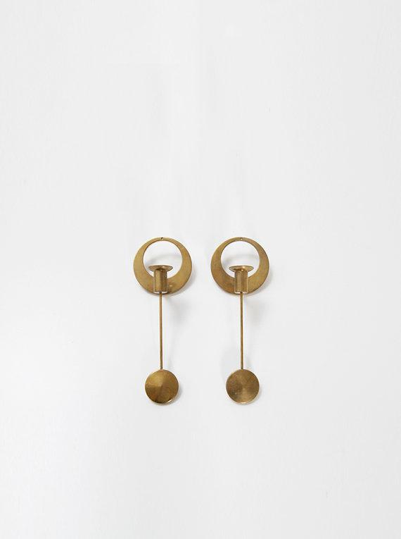 Danish design pendulums - in gold color