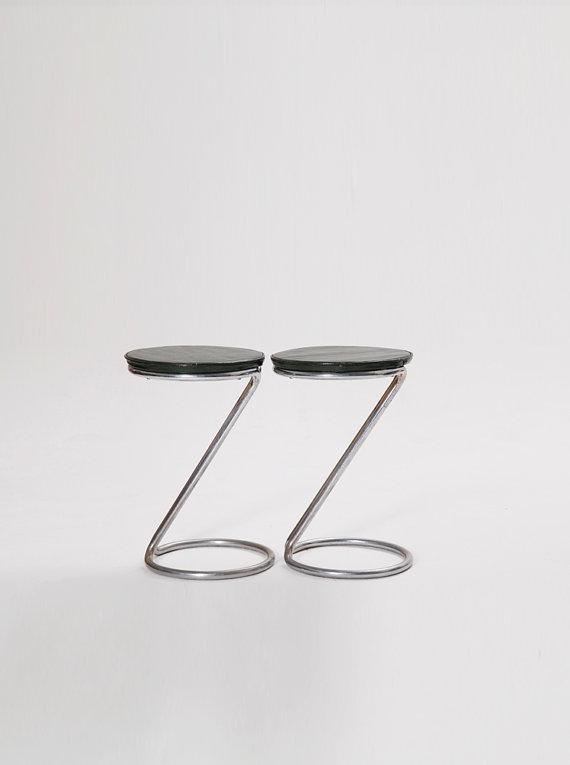 Danish design stools - made of stainless steel