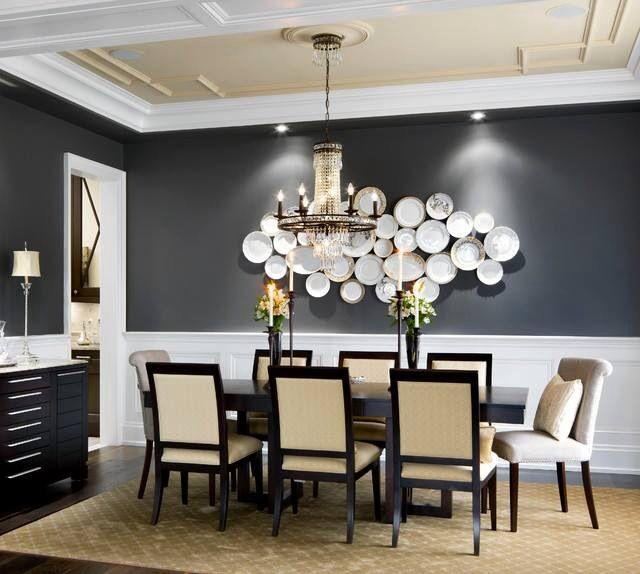 Attractive Dining Room Niche Ideas Part - 12: Dining Room Accent Wall 1 - With Decorative Plates