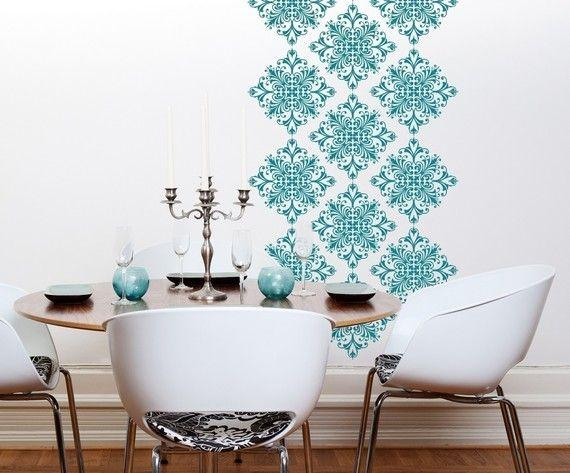 Dining room accent wall 10 - with wall decals