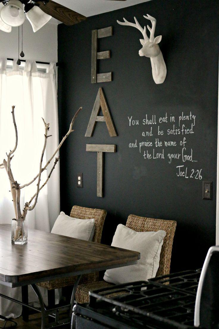 Decorate the wall near your dining table founterior - Photo decoration on wall ...