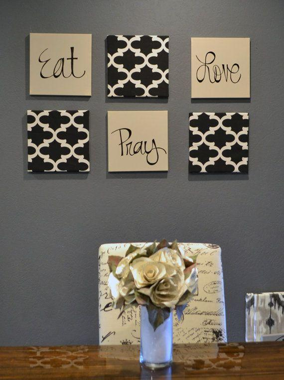 Dining room accent wall 13 - with eat, praty, love writings