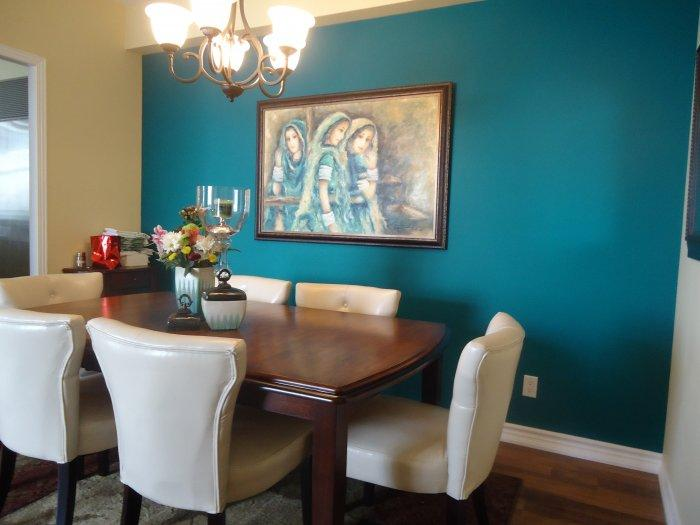 Dining room accent wall 14 - with beautiful painting