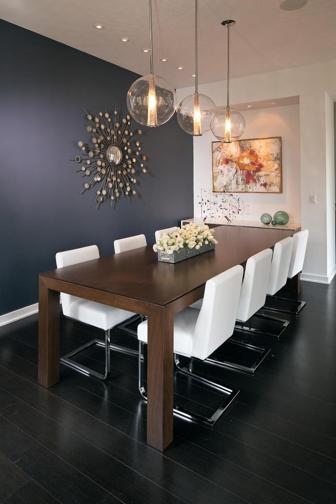 Nice Dining Room Accent Wall 15   With Contemporary Mirror