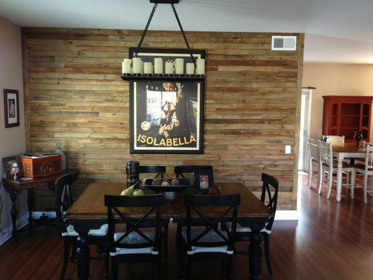 Dining room accent wall 7 - with urban framed poster