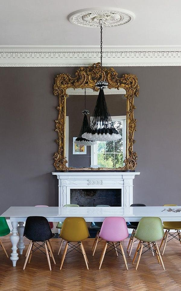 Dining room mirror 13 - with ancient French frame