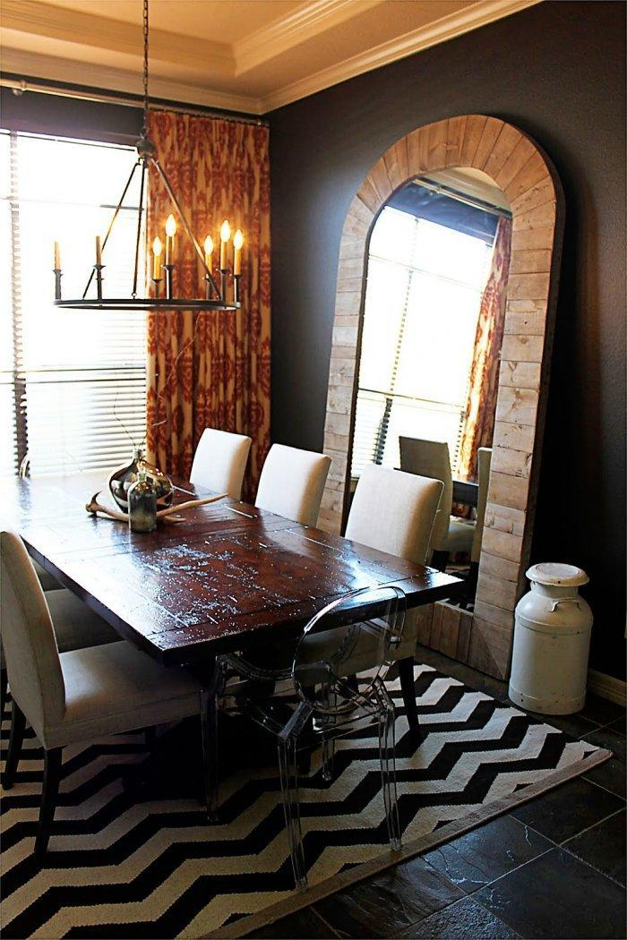 dining room mirrors antique or modern founterior. Black Bedroom Furniture Sets. Home Design Ideas