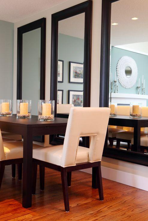 Dining room mirrors antique or modern founterior for What to put on dining room walls