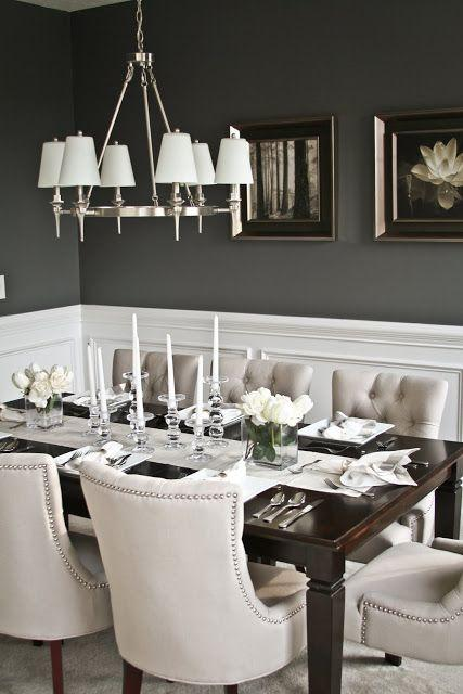 Dining room table 15 - with glass candleholders