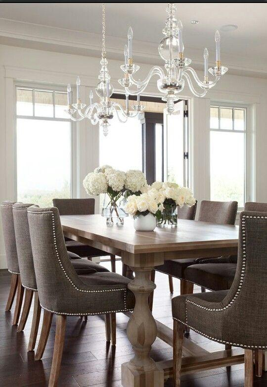 dining room table 2 with dark grey chairs