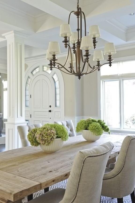 Dining room table 3 - with soft white chairs
