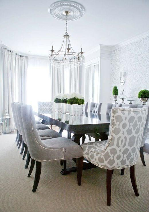 Dining room table 4 - with luxurious chairs
