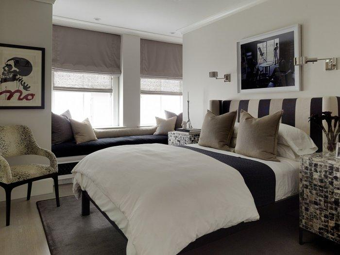 Eclectic bedroom 3 - with black and white accents