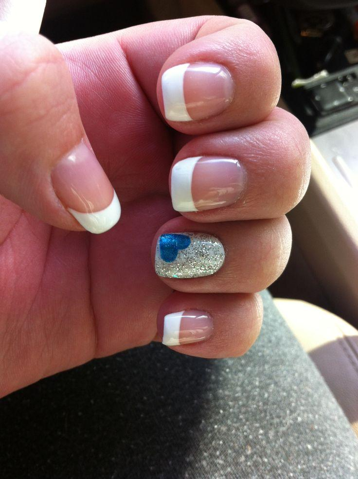 Elegant Baby Shower Nails   With French Manicure