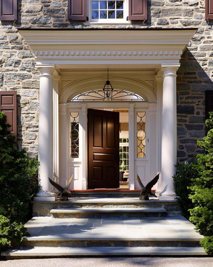 Entrance door 11 - traditionall brown design