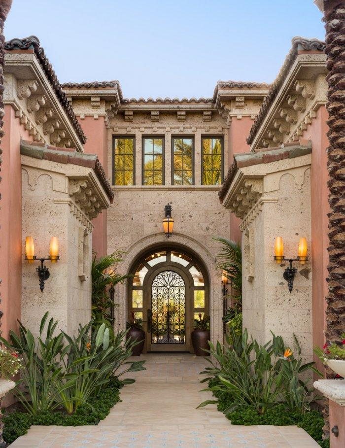 Entrance doors in various styles examples and images for Mediterranean style entry doors