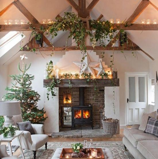 How To Decorate Your Holiday Stairs, Fireplace Or Mantel