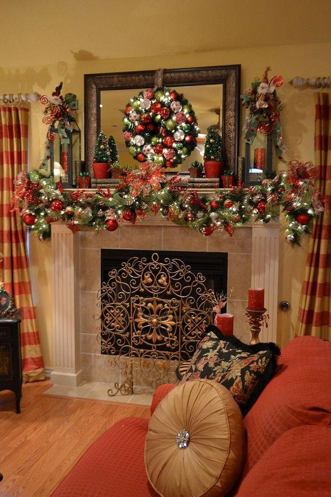 Christmas Garland Ideas For Small Fireplace : Christmas garlands for stairs fireplaces and lights