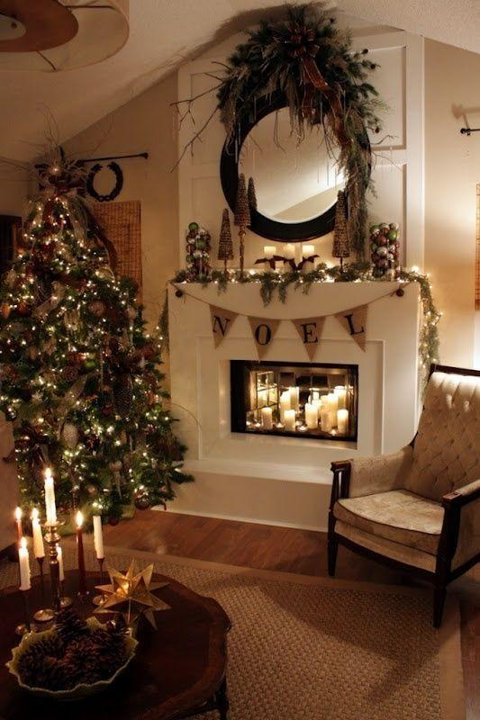 Christmas Garlands For Stairs Fireplaces And Lights