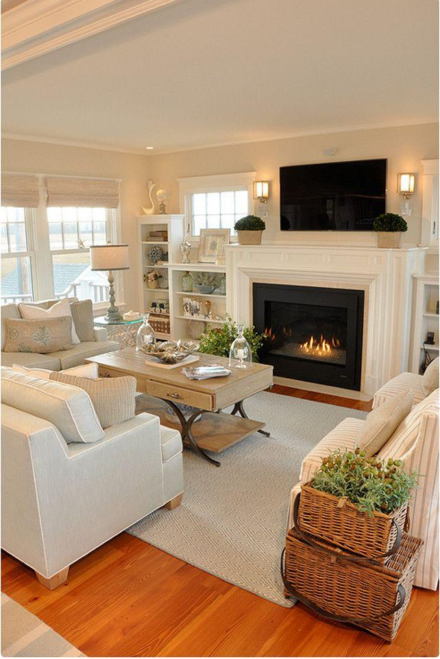 Fireplace decorating idea with TV 1 - and luxurious modern interior