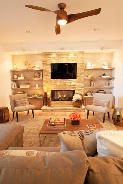 Fireplace decorating idea with TV 6 - and small living room