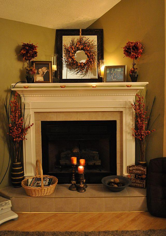 Fireplace decorating idea with mirror 6 - and old vintage framed photos