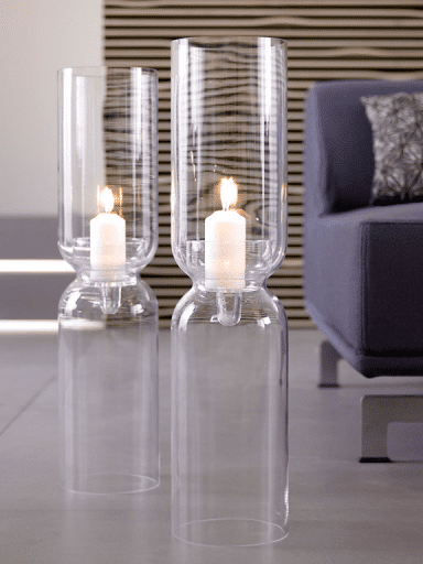 Floor candleholder - made of glass