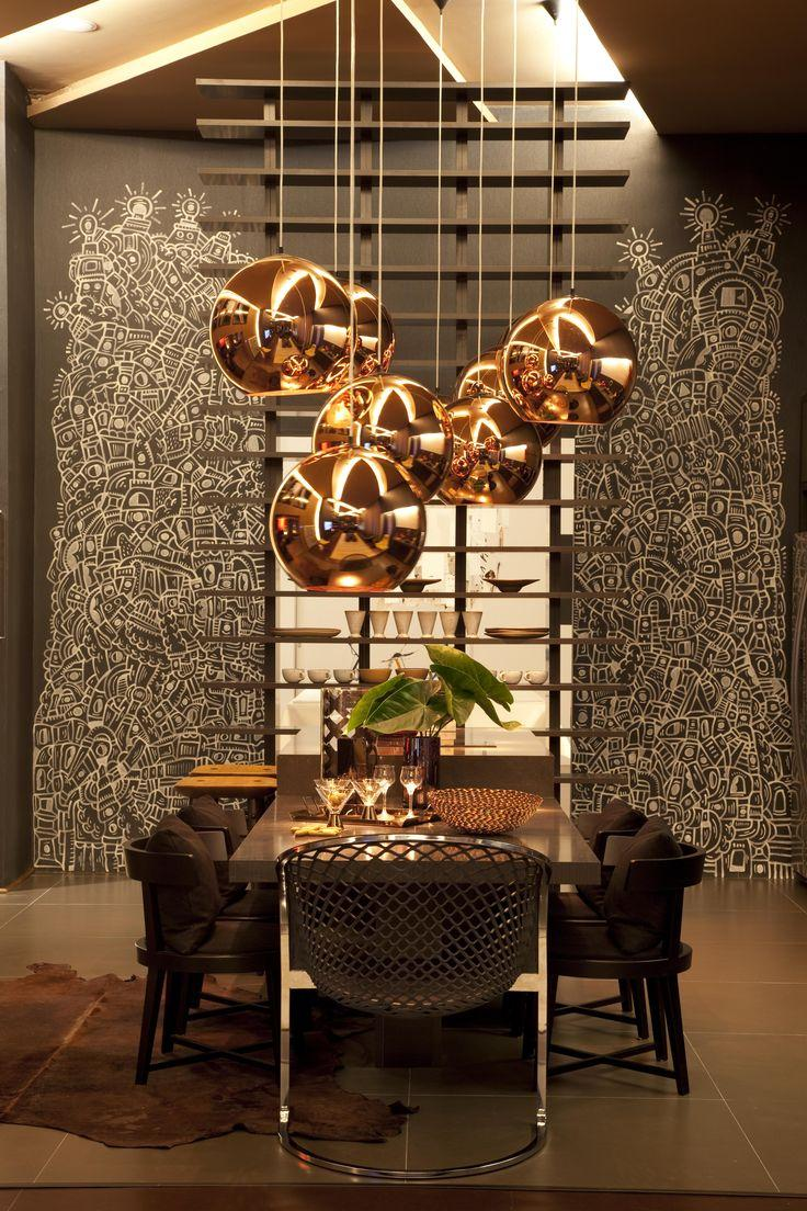 Modern pendants for unique and attractive home interior founterior - Awesome contemporary dining room lighting ...