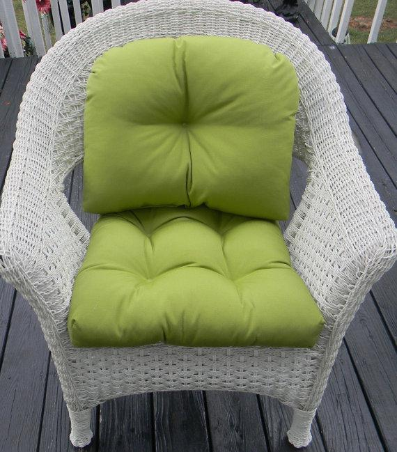Green chair cushion - on the back