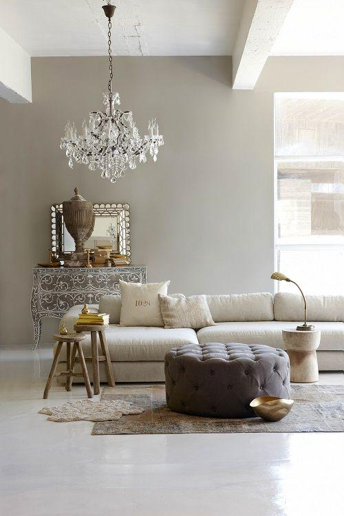 Grey living room paint 2 - in a luxurious French apartment