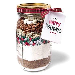 Happy Holidays Christmas jar - with nuts and powder