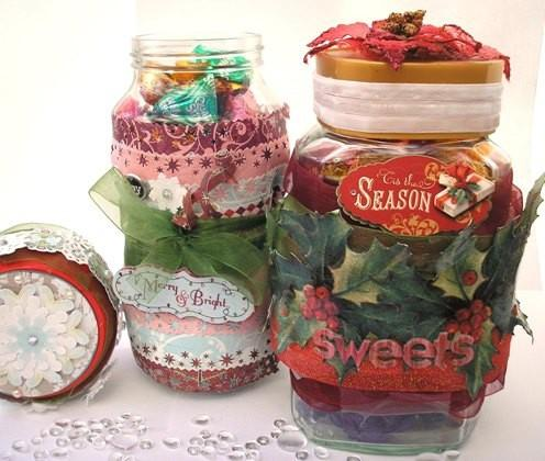 Holiday Christmas jar - full of winter sweets