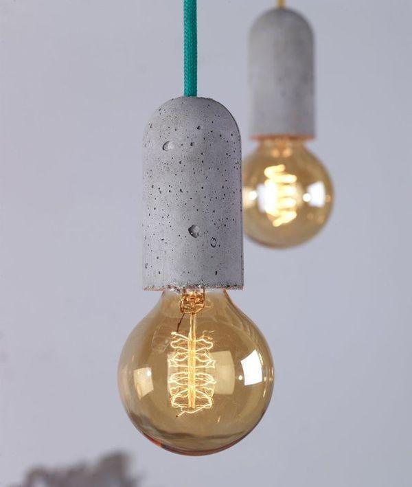 Industrial bulb - with concere socket