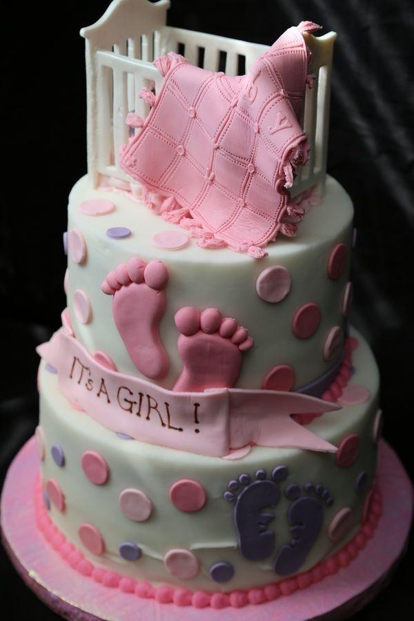 It's a girl - shower party cake