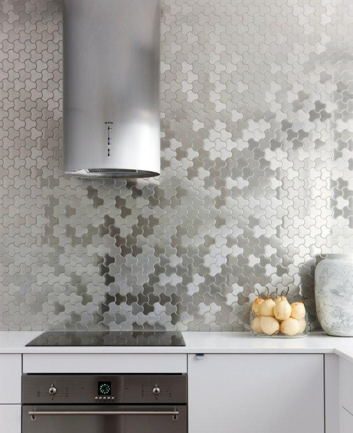 Kitchen backsplash 2 - with grey patterns