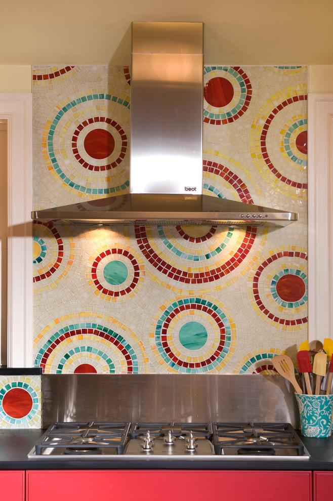 Kitchen backsplash 5 - modern art style