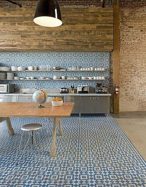 ... 500 × 638 in Flooring Ideas ... & Kitchen floor tile patterns 4 u2013 in white and blue squares | | Founterior