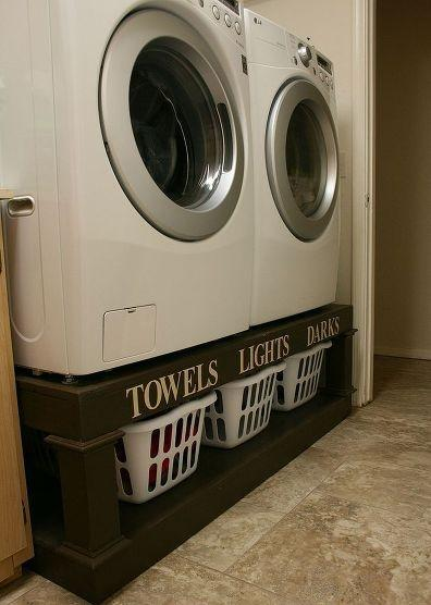 Laundry baskets for towels, lights and darks - for clothes separation