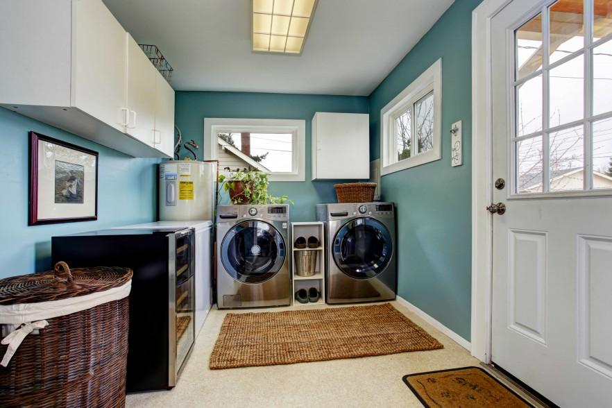 Laundry Room Ideas for Baskets, Cabinets and Racks