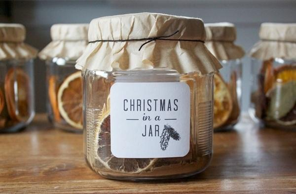 Lemon Christmas jar - with personal message