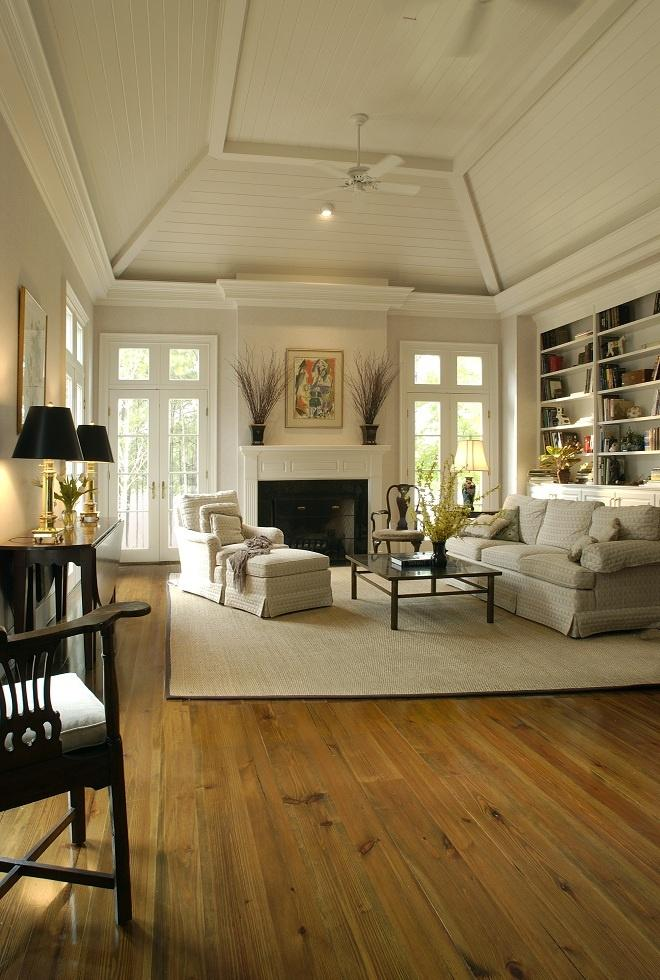Light grey living room paint - inside a country traditional home