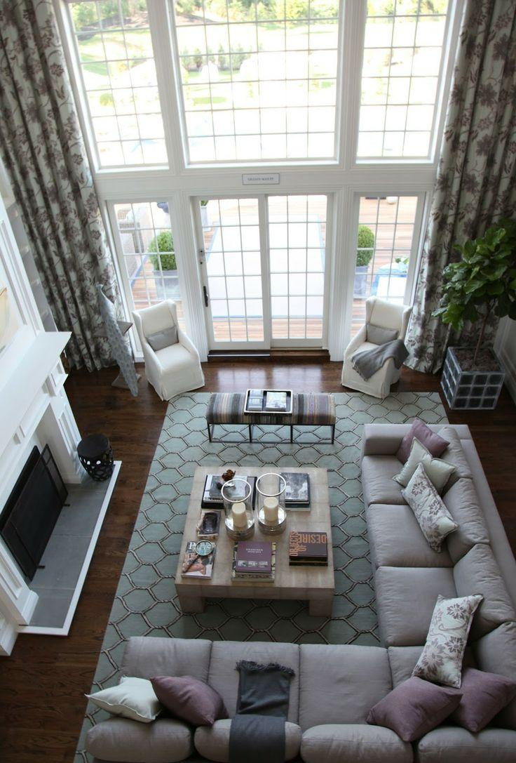 Living room area rugs and decorating ideas founterior - Large living room furniture placement ...