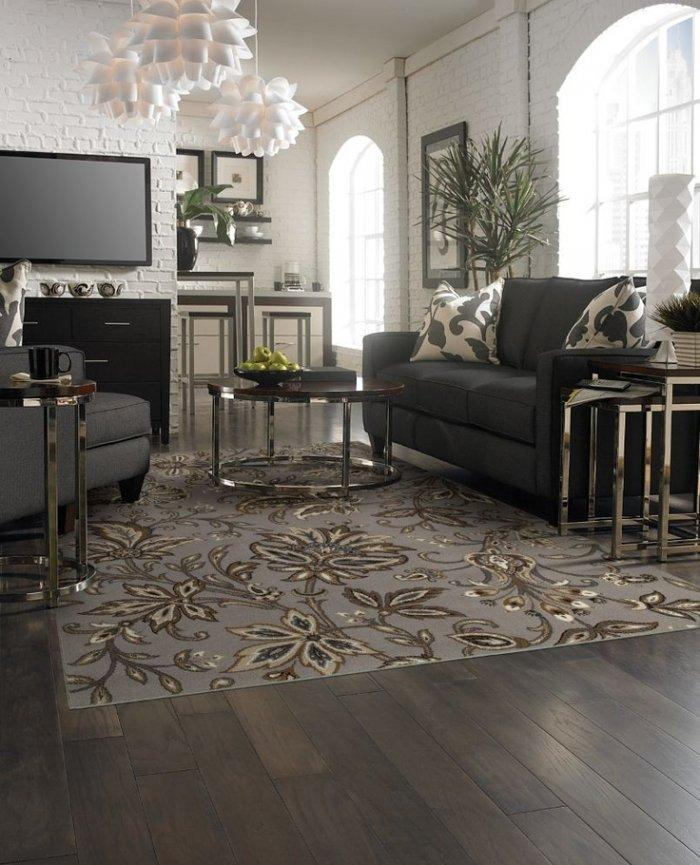 Living room area rugs and decorating ideas founterior - Living room area rugs ...
