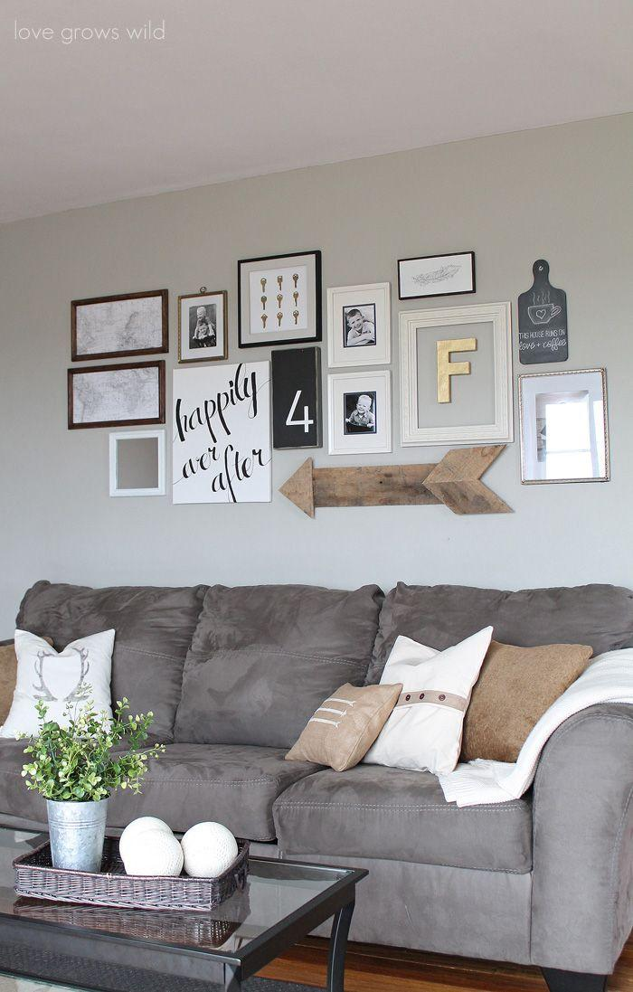 Living room couch 13 - modern grey design