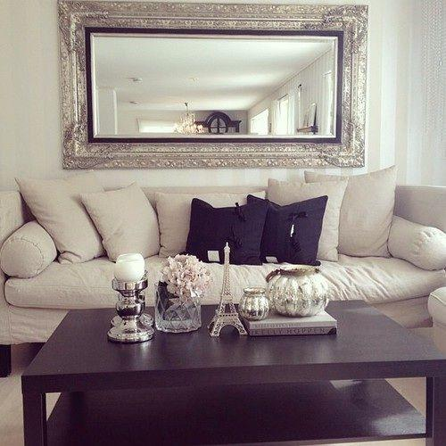 Living Room Couch 2   White White And Black Decorative Pillows Part 84