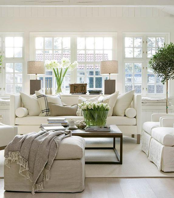 Living room couch 5 - with clean white Scandinavian design