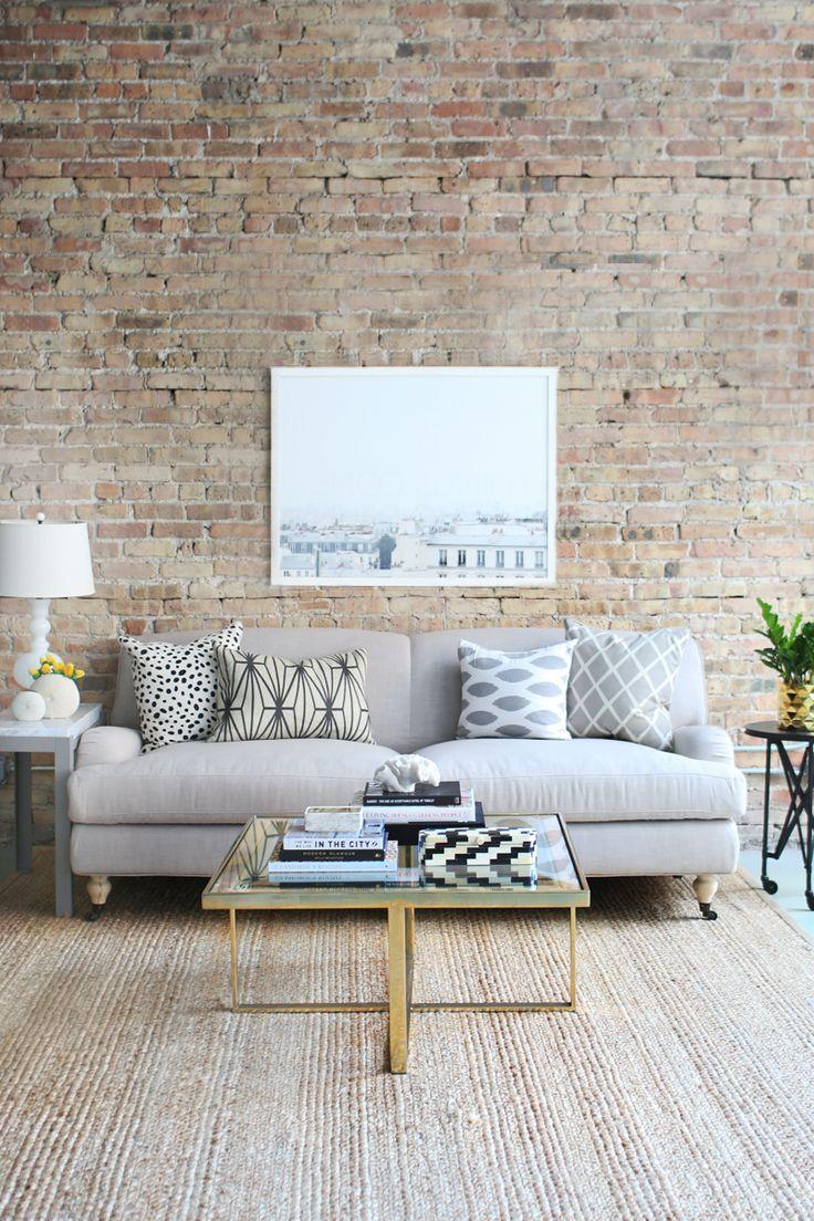 Living room couch 8 - in a modern New York loft